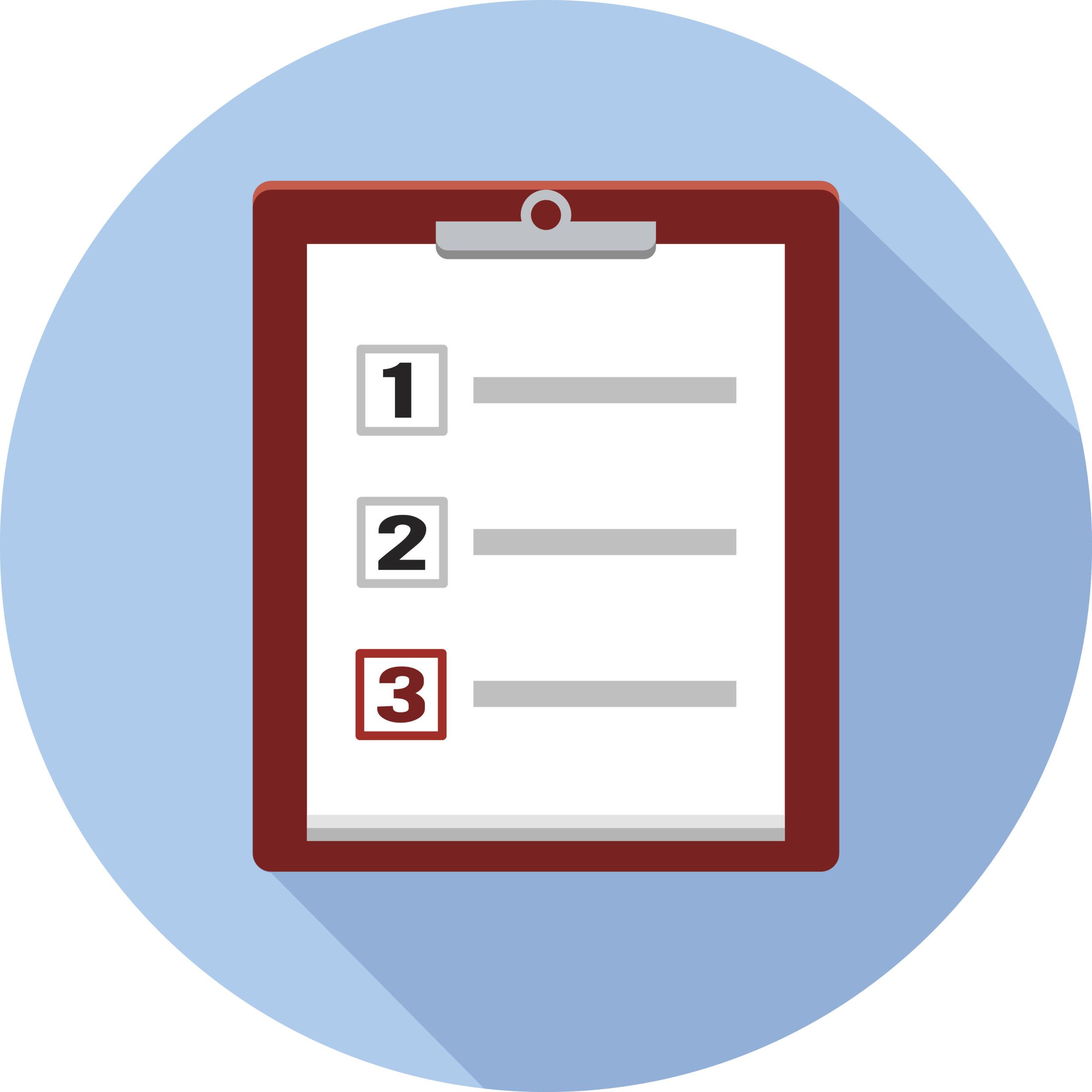 Vector Checklist and Clipboard