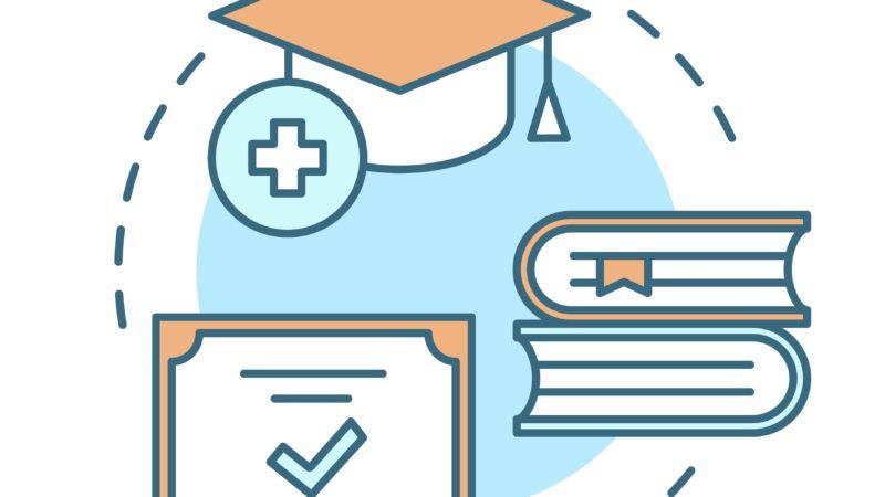 Nurse education concept icon
